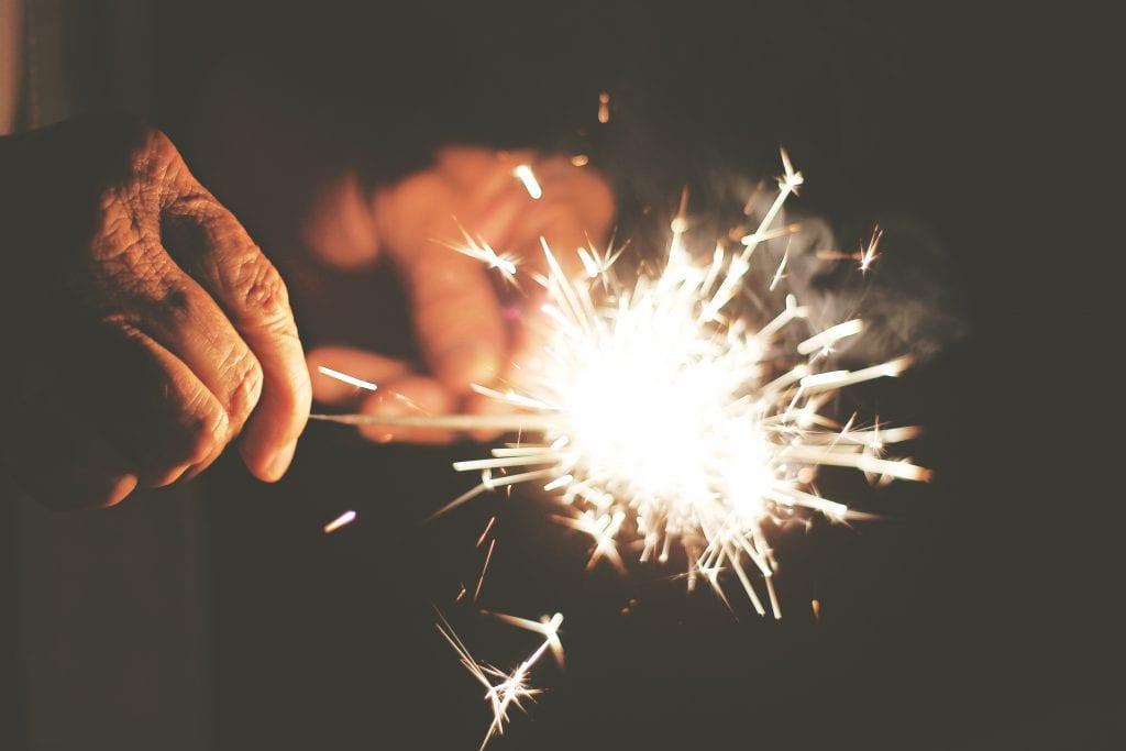 fireworks sparklers