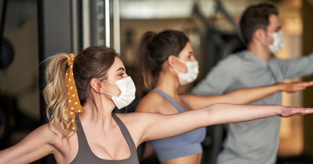 south reno gym members exercising with masks on during covid-19