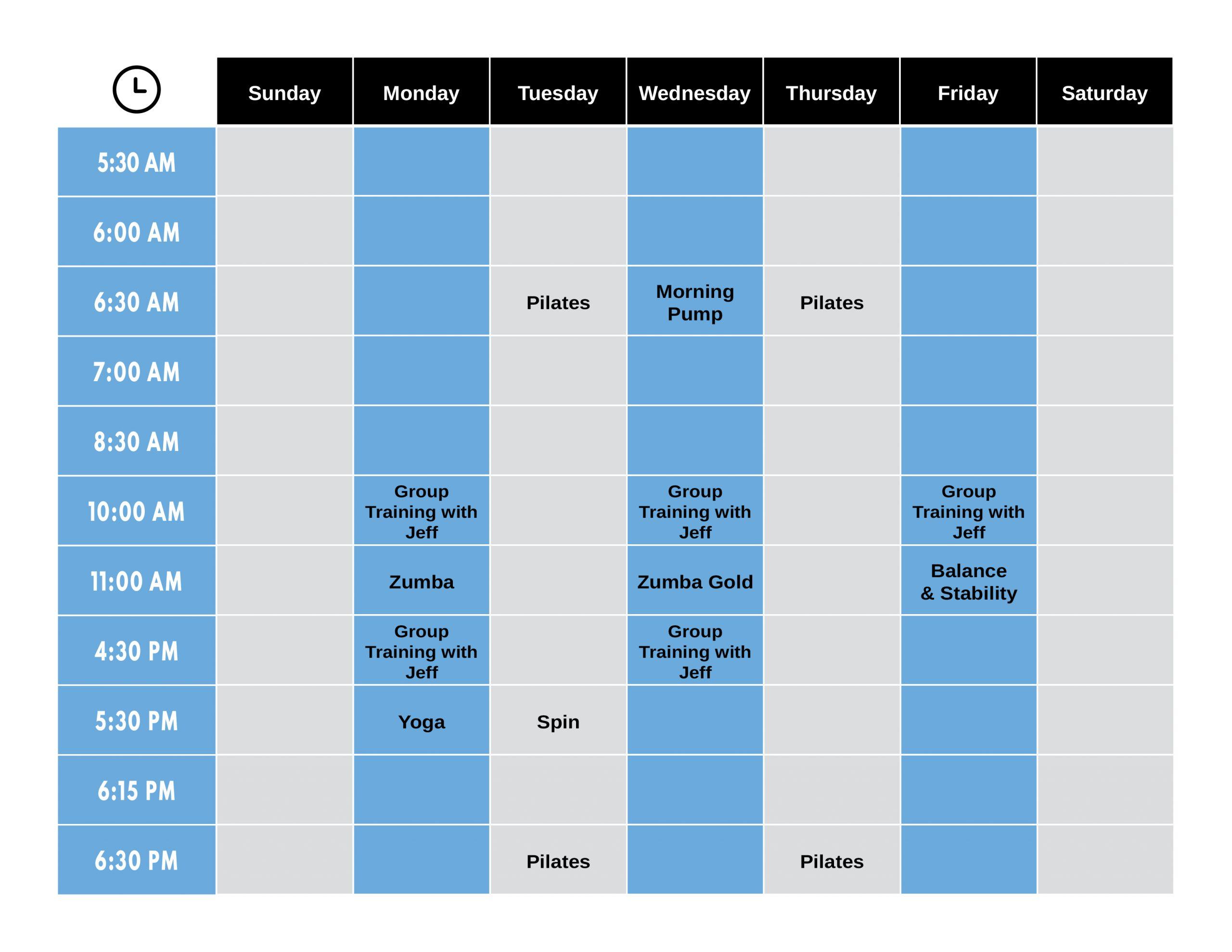 flex appeal 2021 class schedule
